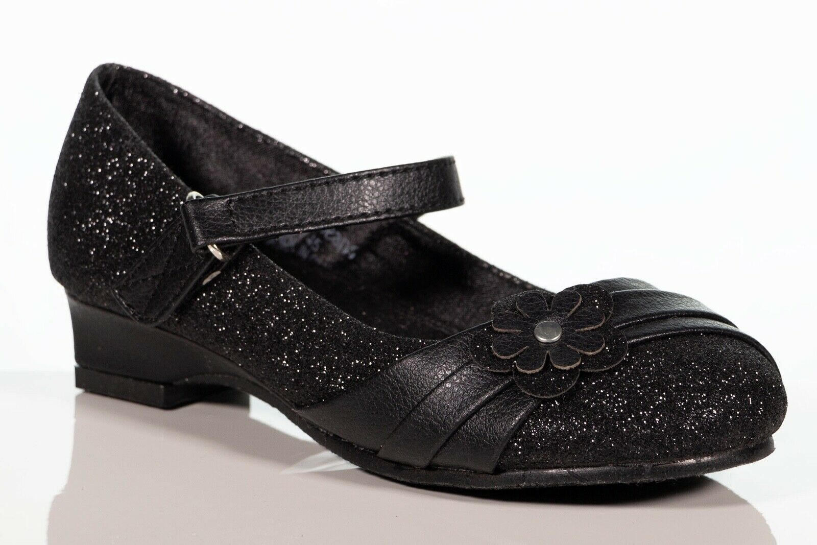 Girls Toddles & Youth Black Glitter mary jane Formal occasio