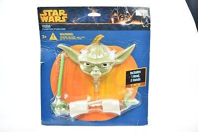 Yoda Pumpkin (New Star Wars Yoda Pumpkin Push In Halloween Decore Pumpkin)