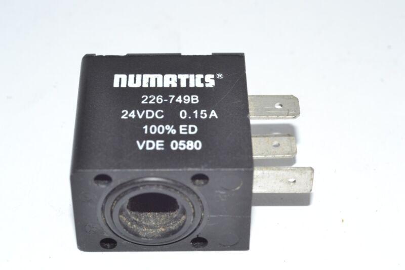 NUMATICS 226-749B SOLENOID COIL 15 AMP 24 VDC 100 PERCENT
