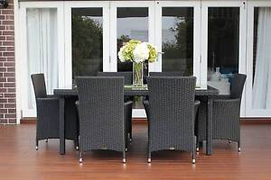 WICKER DINING SETTING,6 SEATS,STUNNING EUROPEAN STYLING,B/NEW Chatswood Willoughby Area Preview