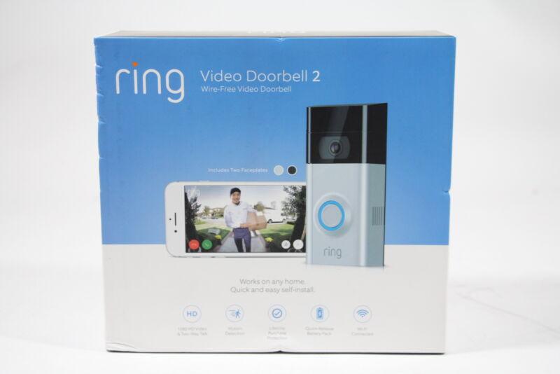 Ring Video Doorbell 2 Satin Nickel/Venetian Bronze 88-0201-NC-USA