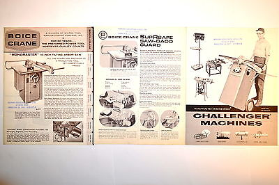 Boice Crane Brochure Bc-205 Bc-206 Challenger Machine Power Tool Catalog Rr819