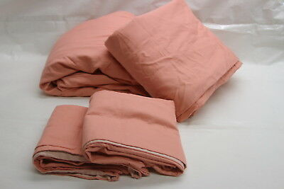 Northern Nights 500TC 100% Cotton Reversible Sheet Set QUEEN CORAL RTL$62