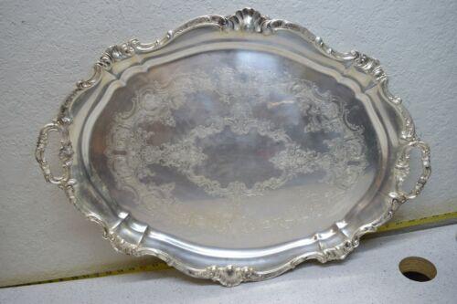 "Gorham YC777 26.5"" Silver-plate Butler Tray Strasbourg Serving Platter"
