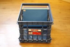 Filing crate with file folders