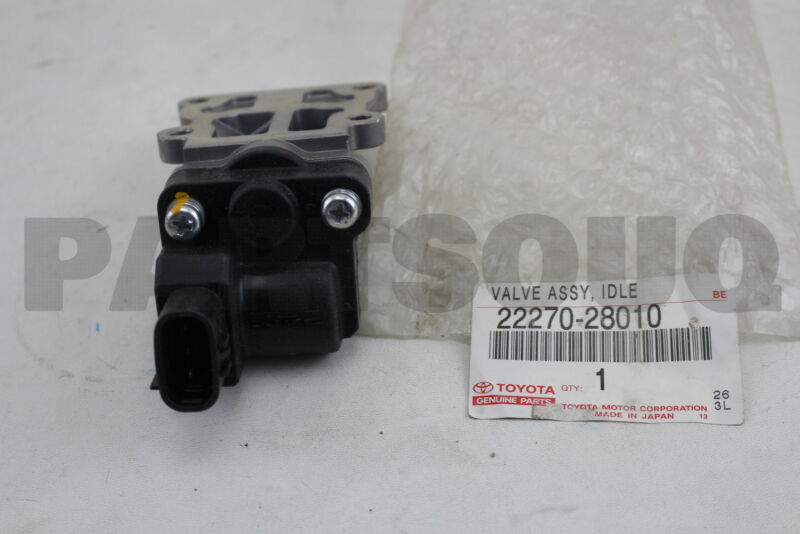2227028010 Genuine Toyota Valve Assy, Idle Speed Control(for Thlottle Body)