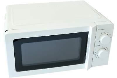 DESKI Mikrowelle weiß 700 Watt Microwelle Drehteller Timer 6 Stufen Küche Kochen