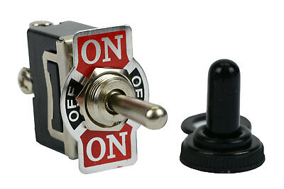 Temco 20a 125v On-off-on Spdt 3 Terminal Toggle Switch Momentary Boot