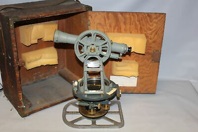Keuffel Esser Co. K-e Paragon Transit Theodolite In Wooden Box