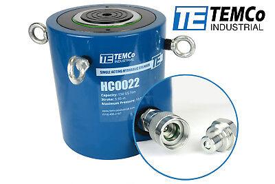 Temco Hc0022 - Hydraulic Cylinder Ram Single Acting 150 Ton 4 Inch Stroke
