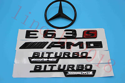 Gloss Black E63s BITURBO Trunk Logo Sticker Decal Emblem Badge Package For W213 for sale  Shipping to Canada