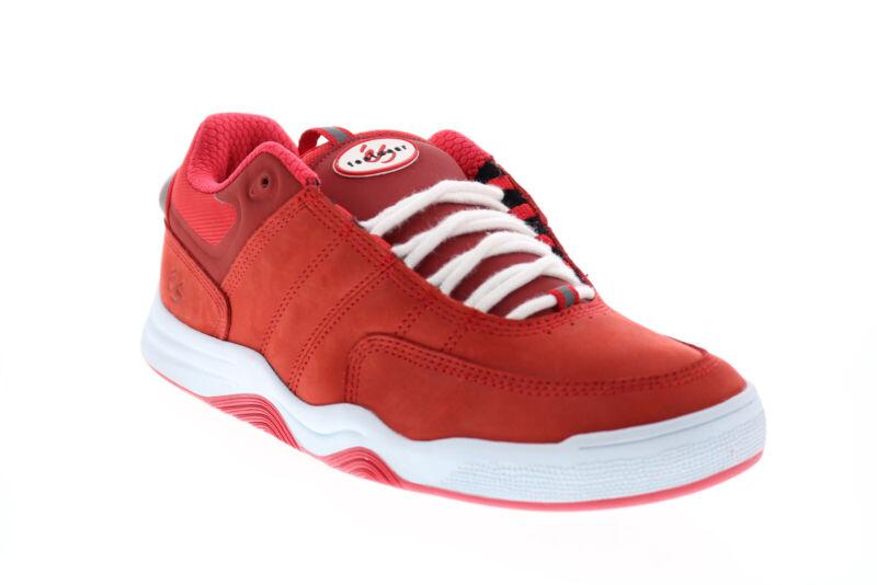 ES Evant 5101000171600 Mens Red Nubuck Skate Sneakers Shoes