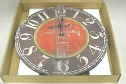 Large 13.5 Hotel Du Monde 1921 Wooden Vintage Decorative Wall Clock