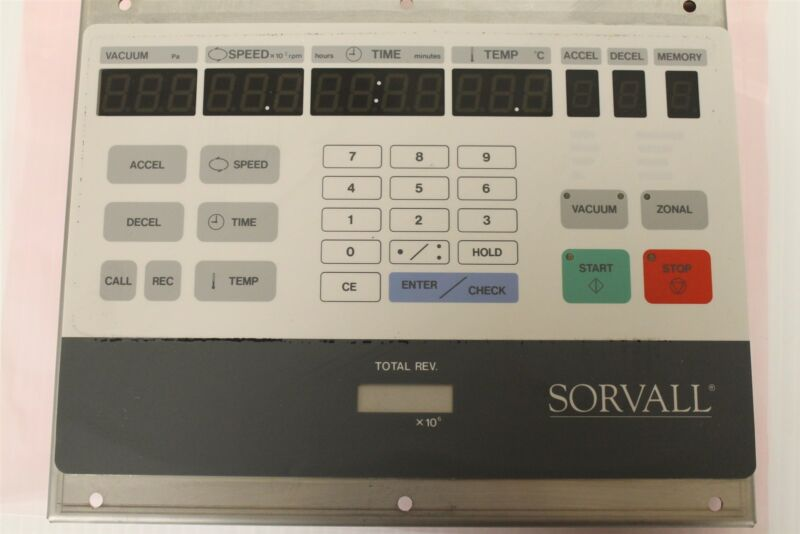 Sorvall CC40 Ultracentrifuge Display Control Panel