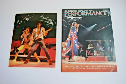 1983 ROLLING STONES 8x10 Photo & 1983 Performance Magazine 20th Anniversary Ed