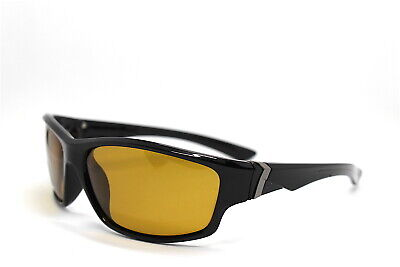 Sonnenbrillen Männer Sport Kuvertierung Schwarz Objektiv Polarized Gelb Bike