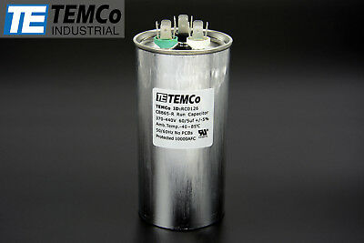 Temco 605 Mfd Uf Dual Run Capacitor 370 440 Vac Volts Ac Motor Hvac 605