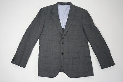 JCrew Ludlow Suit Jacket Windowpane FOX Wool Flannel Thomas Mason 40S A0535