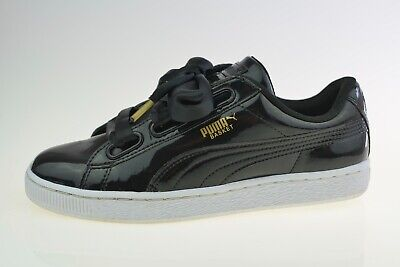 Puma Basket Heart Patent Black 363073 Women's Trainers Size Uk 6