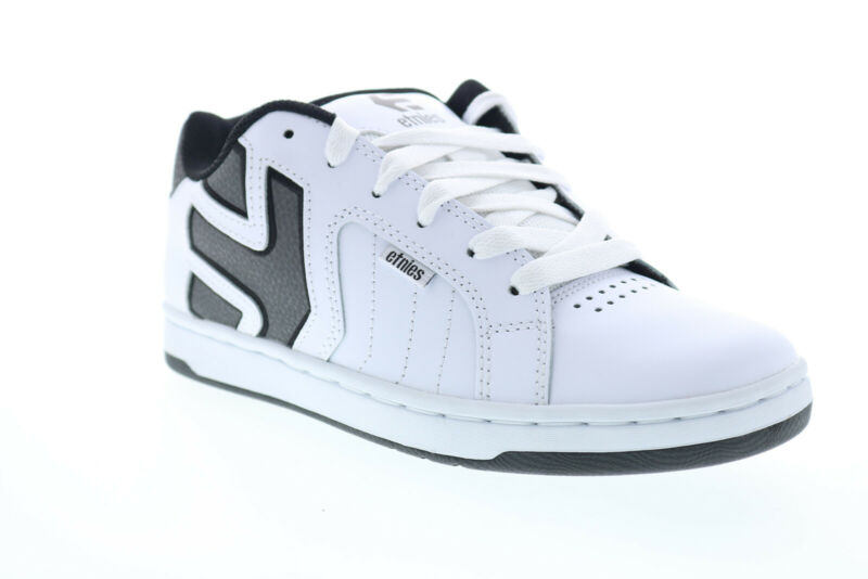 Etnies Fader 2 4101000467126 Mens White Leather Lace Up Athletic Skate Shoes
