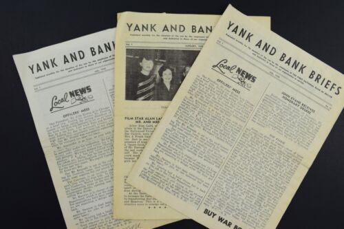 "Lot of 3 1945 ""Yank and Bank Briefs"" Newsletter National Bank of Denver *Wartime"
