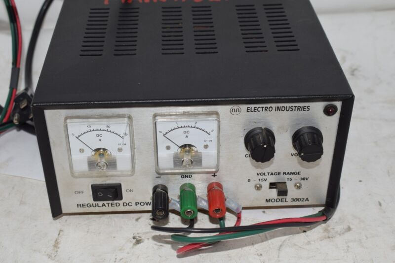 Electro Industries Regulated DC Power Supply Model 3002A