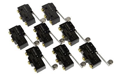 8 Lot Temco Heavy Duty 15a Micro Limit Switch Roller Lever Arm Spdt Snap Action