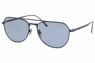 Persol PO5003ST 8002P1 Sunglasses Brushed Navy/Blue Polarized Titanium Pilot