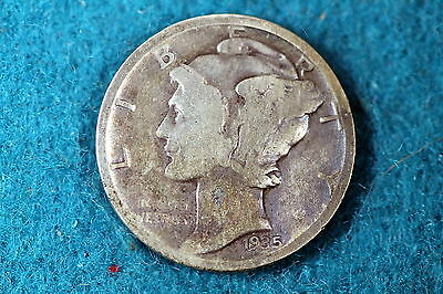 ESTATE FIND 1935 Mercury Dime F6303 - $3.00