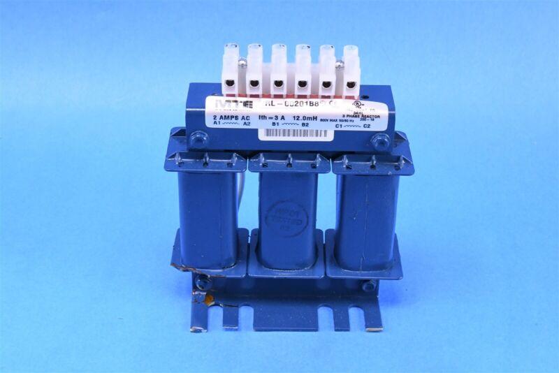 MTE Line Reactor RL Series MTE  3PH 3A 12.000mH RL-00201B8
