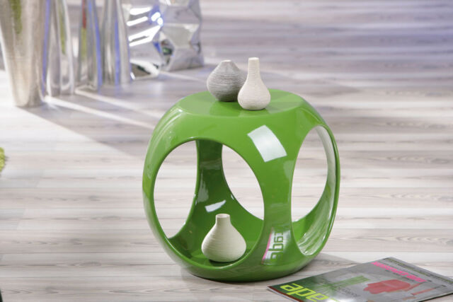 Beistelltisch grün hochglanz Wohnzimmertisch Beistell Tisch Nachttisch Design