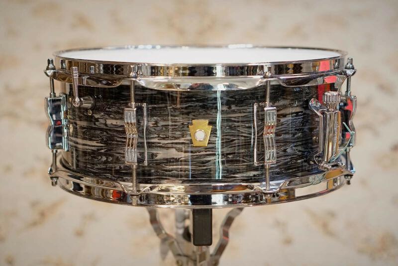 Ludwig Legacy Mahogany Jazz Fest Snare Drum 14x5 Vintage Black Oyster - LS9081