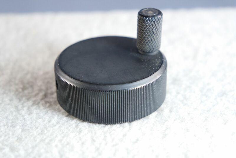 """Collins Radio 1.75"""" Dia Solid Aluminum Black Spinner Knob CU-547 UHF Coupler"""