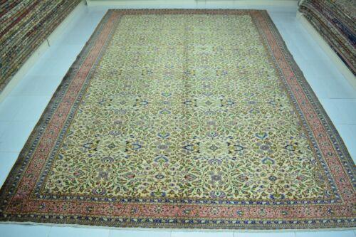 Oushak  Rug 8x11 , Old Large Handmade Turkish Wool Rug, Vintage Floral Area Rug
