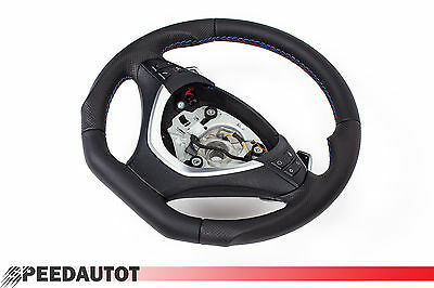 Part Exchange Flattened LEATHER STEERING WHEEL BMW E70,E71,E72 NEW - Cover