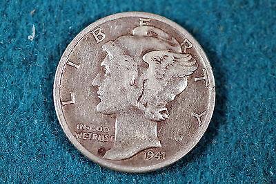 ESTATE FIND 1941-D Mercury Dime F6276 - $3.00