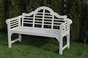 Solid hardwood garden bench - Lutyens inspired