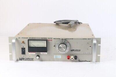 California Instruments Invertron 351tc Ac Power Source 0-240vac 45-75hz 800t-45