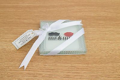 Kate Aspen Coasters - Mr. and Mrs. - Set of 2 Coasters Wedding Gift
