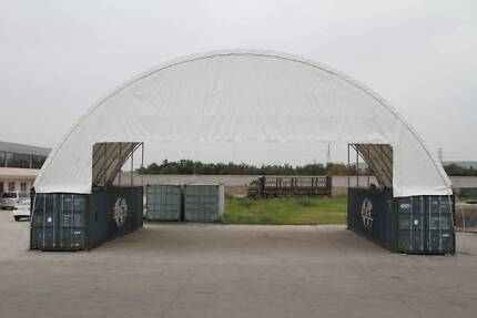 "Igloo Dome Container Shelter Double Trussed- 60"" x 40"" (18m x 12m"