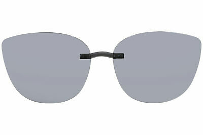 Silhouette Sunglasses Clip-On 5090 A2 Shape 0601 Polarized Blue-Gray (Silhouette Clip On Sunglasses)