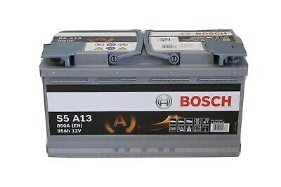 Autobatterie Bosch  S5 A13  Start-Stop  AGM Autobatterie 12V 95Ah 0092S5A130