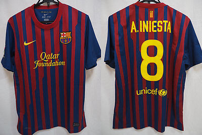 18637dda5fa 2011-2012 FC Barcelona Barca FCB Jersey Shirt Camiseta Home Nike Iniesta  8  L