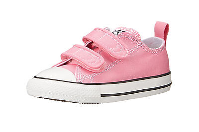 Converse Girls Chuck Taylor All Star 2V Infant Babies Toddler Shoes Pink/White