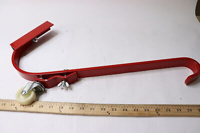 2 Qualcraft Durable Steel Roof Top Ladder Hook With Wheel Red 2481