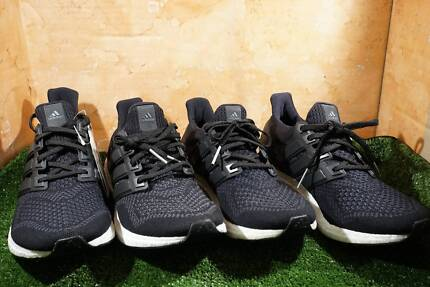 4 Pairs of adidas Ultra Boost 1.0 Core Blacks US 8 US 8.5 US 9.5