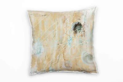 Couch Sofa Lounge Zierkissen in 40x40cm Beige Sandgelb Grau Eisblau - Sand Mikrofaser Sofa