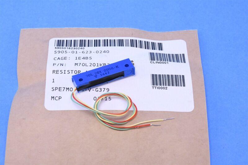 Vishay Leadwire Trimmer Resistor Potentiometer 200 Ohm 10 % 70 Series Mil-Spec