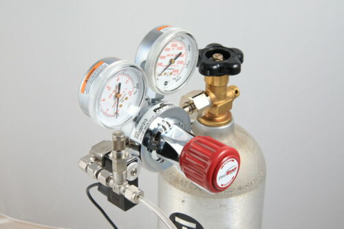 Reef aquarium Custom CO2 system, CaRx Industrial dual Stage regulator & part