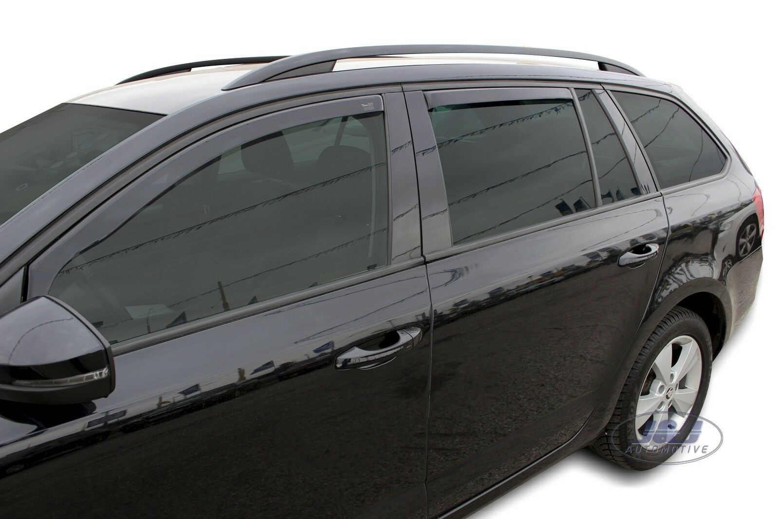 Front /& Rear Only for the 5 Doors Model Heko WD28242-36512 Tinted Full Set of 4 Heko Wind Deflectors